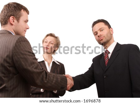 Group of busisness people - business hand shake  - promotion