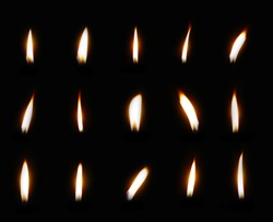 Group of candle light isolated on white background