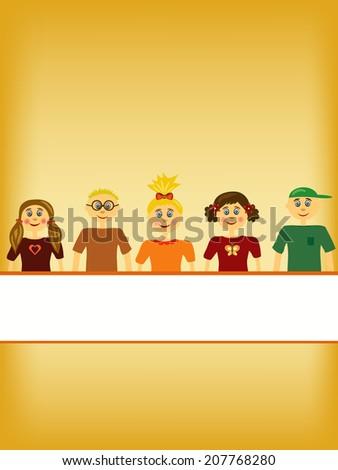group of children illustration background #207768280