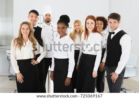 Group Of Confident Multi Ethnic Restaurant Staff