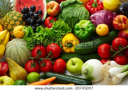 Group of different fruit and vegetables #20745097