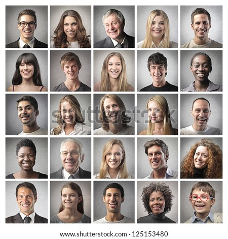 Group of different people - stock photo