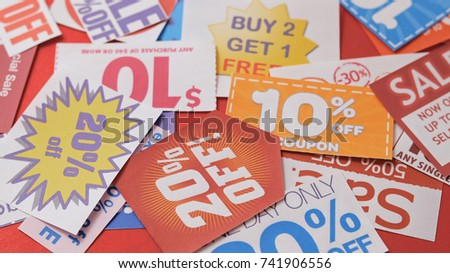Group of discount coupon
