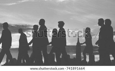 Group of diverse business people are walking to the successfulness #741891664