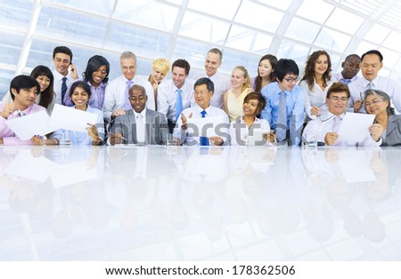Group of Diverse Business People Meeting in Office