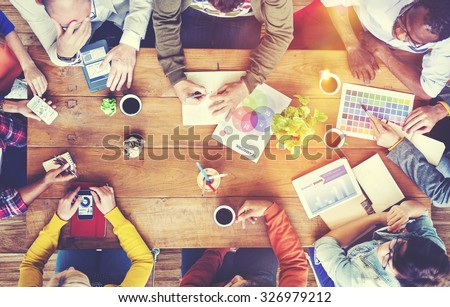 Group of Diverse Designers Having a Meeting Concept #326979212