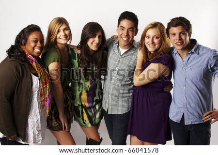 group of diverse friends