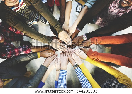 Group of Diverse Hands Together Joining Concept - Shutterstock ID 344201303