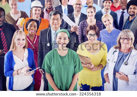 Group of Diverse People with Different Occupations Concept