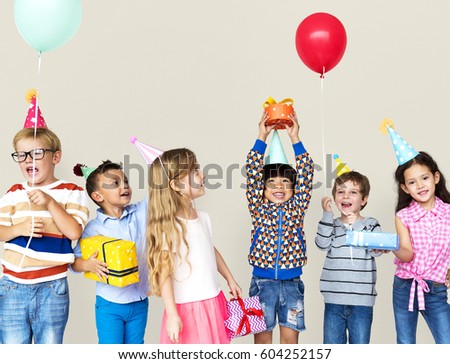 Group of Diversity Kids Party Together #604252157