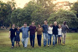 Group of Diversity People Teamwork Together