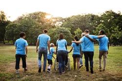 Group of Diversity People Volunteer Community Service