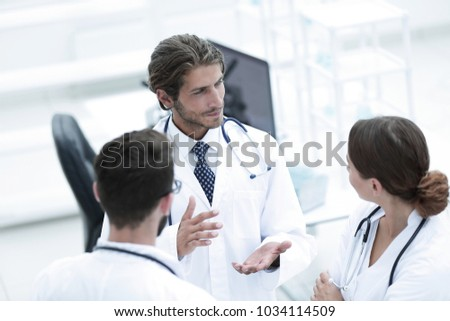 Group of doctors talking