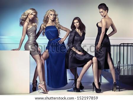 Group of elegant women