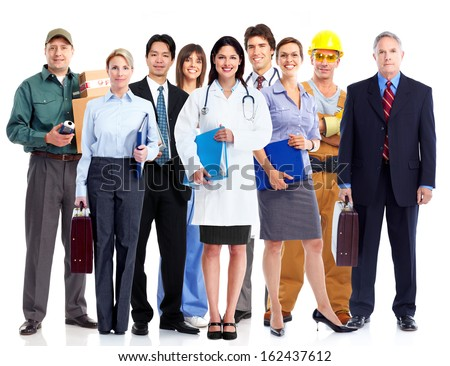 Group of employee people. Business team isolated on white background. Stock photo ©