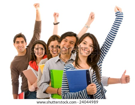 Picture of Excited Students Groups