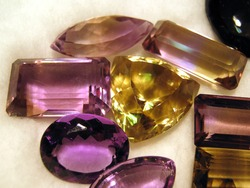 Group of faceted gemstones