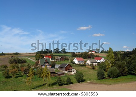 Group of farmsteads - traditional Polish village