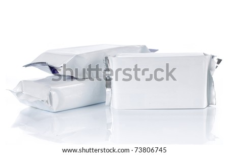 group of food pack, isolated over white background