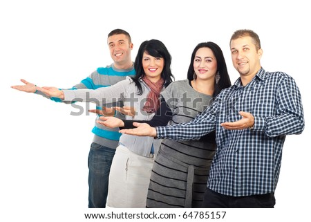 Group Of Four People 102