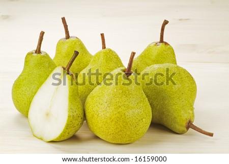 Group of Fresh Ripe Pears