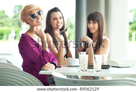 Group of friend enjoying coffee break