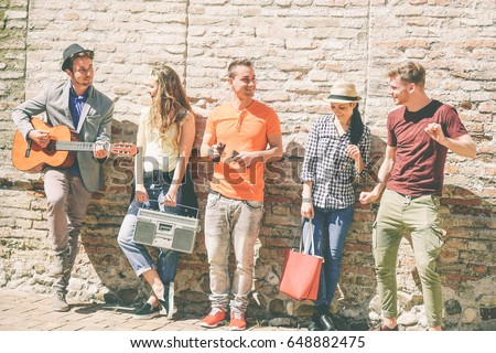 group of friends enjoying a...