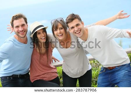 group of friends having fun...