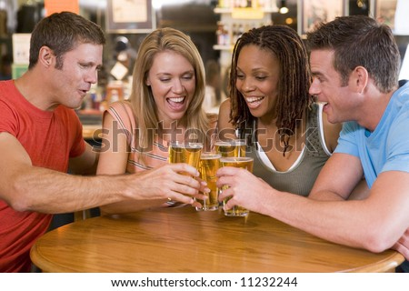 Group Of Friends In Bar