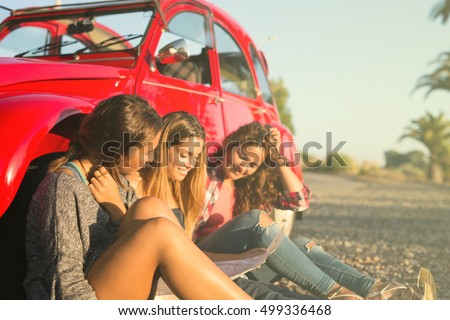 group of friends on a roadtrip...