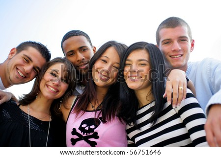 Group of friends smiling