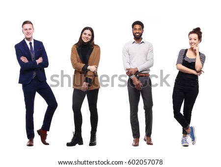Group of full body people #602057078