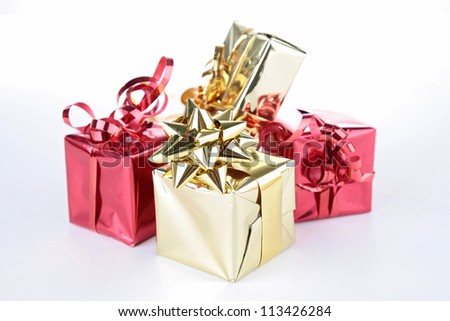 group of gift boxes - stock photo