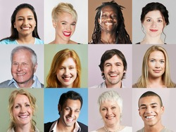 Group of headshots arranged in grid