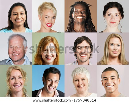 Photo of  Group of headshots arranged in grid