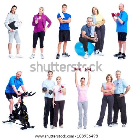 Group of healthy people. Fitness and gym.