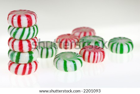Group of holiday candies