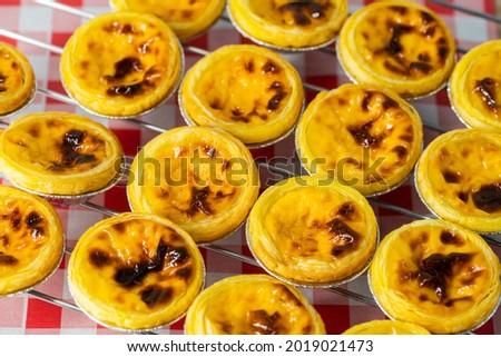 Group of Hongkong custard tart, egg tart
