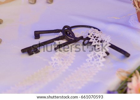 group of keys on the white background