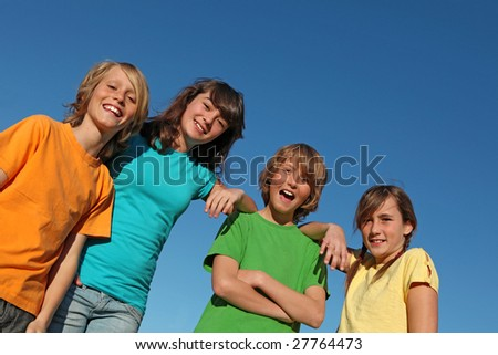 group of kids - stock photo