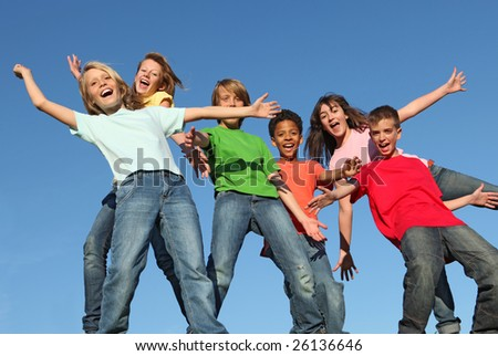 group of kids having fun SEE MORE IN PORTFOLIO