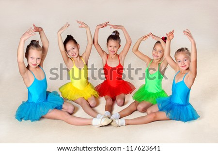 Group of little ballet dancers
