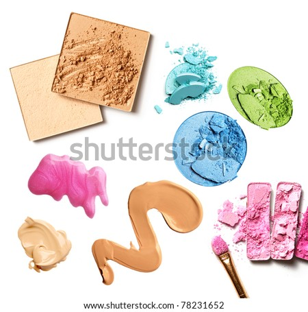 group of makeup products