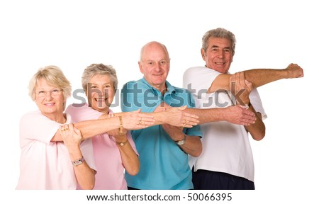 stock photo group of mature older people stretching and warming up before exercise 50066395 Couple of movies I've caught recently. DIARY OF A SEX ADDICT