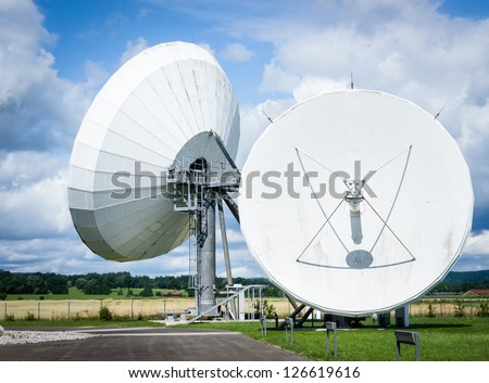 group of modern radio telescopes