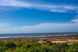Group of Monuments at Mahabalipuram, Covelong Beach, View from Olakkanatha Temple Top