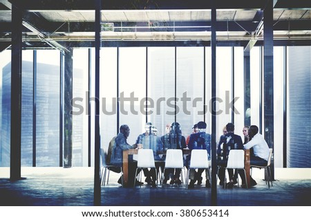 Group of Multi-Ethnic People Meeting Social Networking Concept
