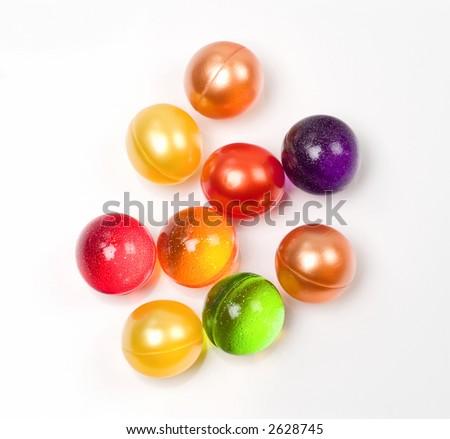 Group Of Multicolored Bath Soap Balls Stock Photo 2628745