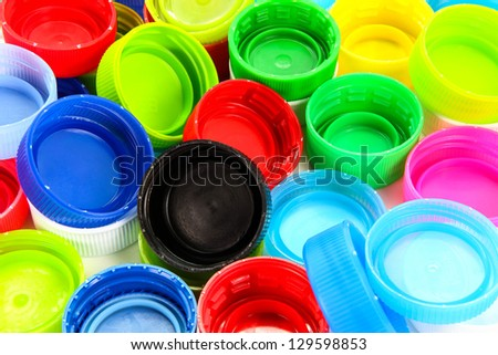 group of multicolored bottle caps