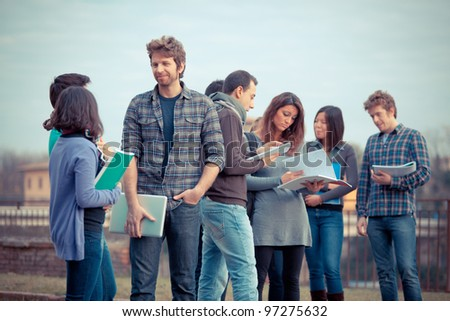Group of Multicultural College Students